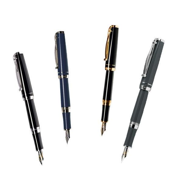 Die Füllfederhalter Skribent von Cleo Skribent - erhältlich in vier Farbvarianten und vier Federbreiten bei MiaSkribo