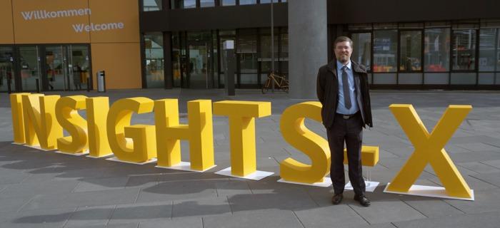Ich auf der Insights-X 2019 in Nürnberg.