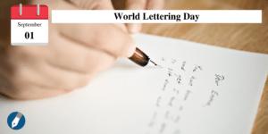 Der World Lettering Day geht auf eine private Initiative zurück.