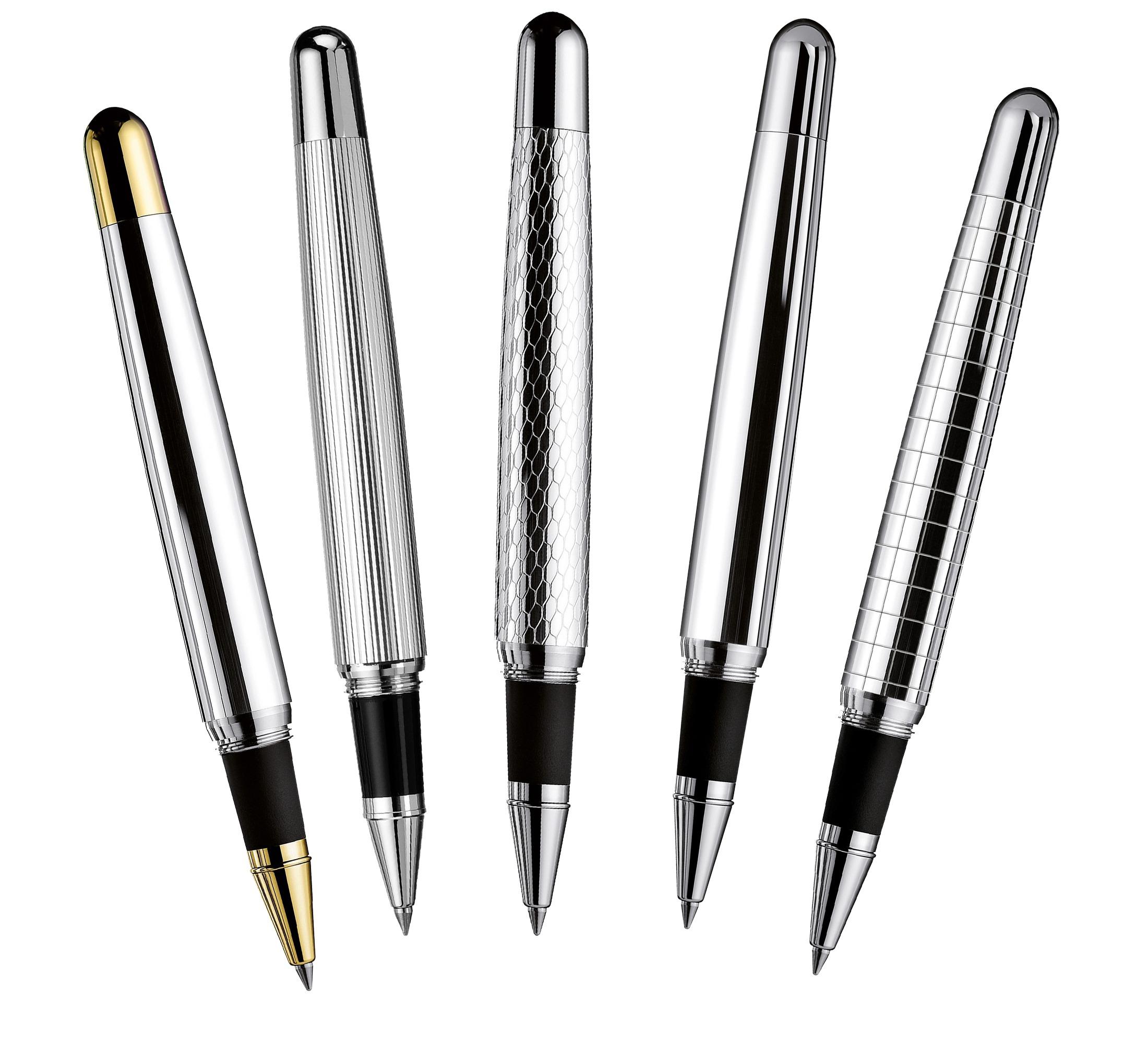 Die Tintenroller der Serie Design 02 von Otto Hutt – hier kaufen bei MiaSkribo