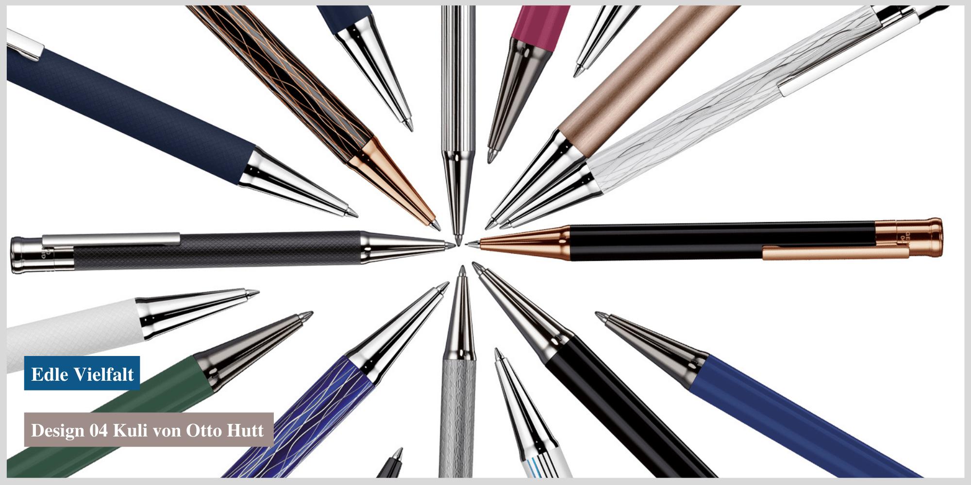 Ein stilvoller Schreibbegleiter: der Kugelschreiber Design 04 von Otto Hutt jetzt in Köln erhältlich.