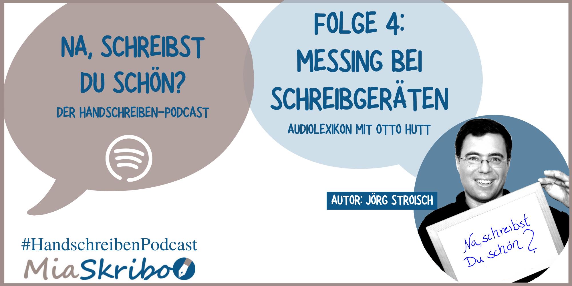 """Podcast """"Na, schreibst Du schön?"""" mit dem Audiolexikon zum Begriff Messing."""