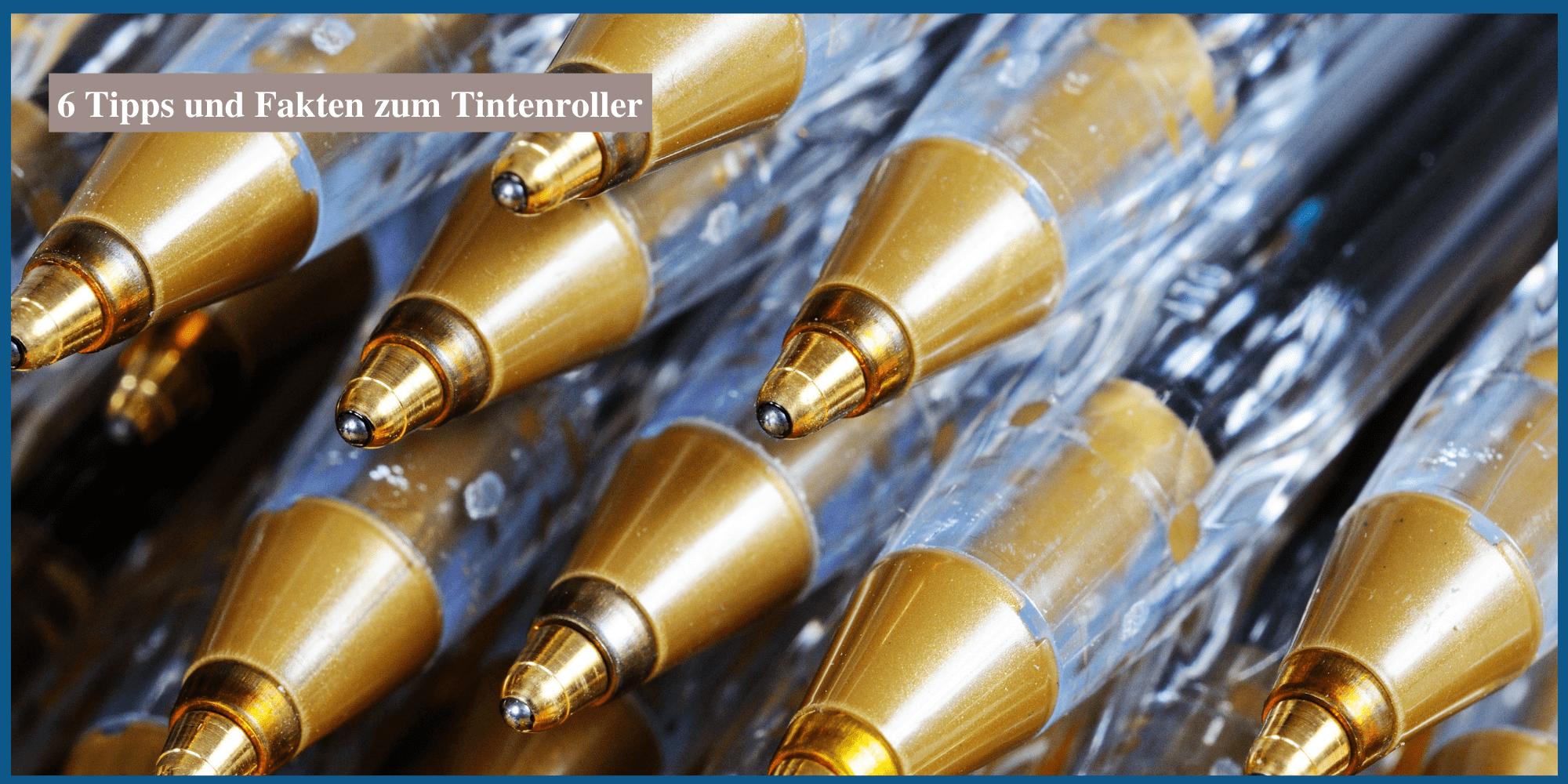 Der Tintenroller ist ein Zwischending zwischen Füller und Kuli.