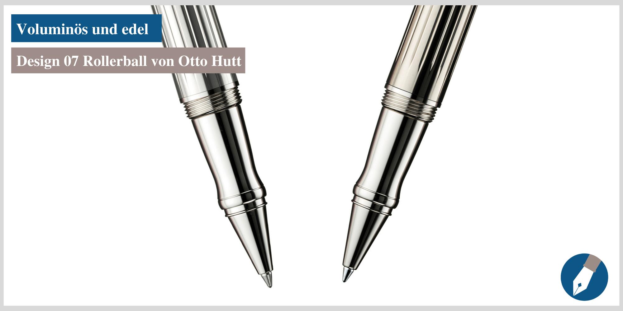 Der Design 07 Tintenroller von Otto Hutt. Jetzt auch bei MiaSkribo erhältlich.