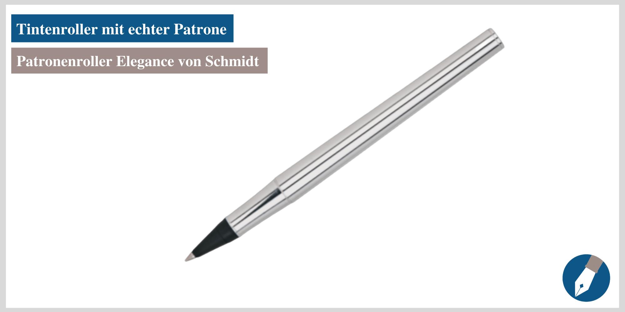 Der Patronenroller Elegance von Schmidt - jetzt auch bei MiaSkribo in Köln erhältlich.