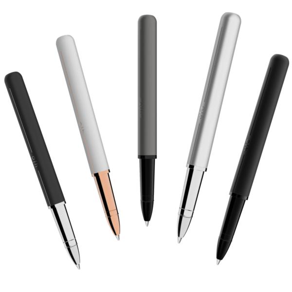 Der Tintenroller Design 03 von Otto Hutt ist in fünf unterschiedlichen Varianten erhältlich.