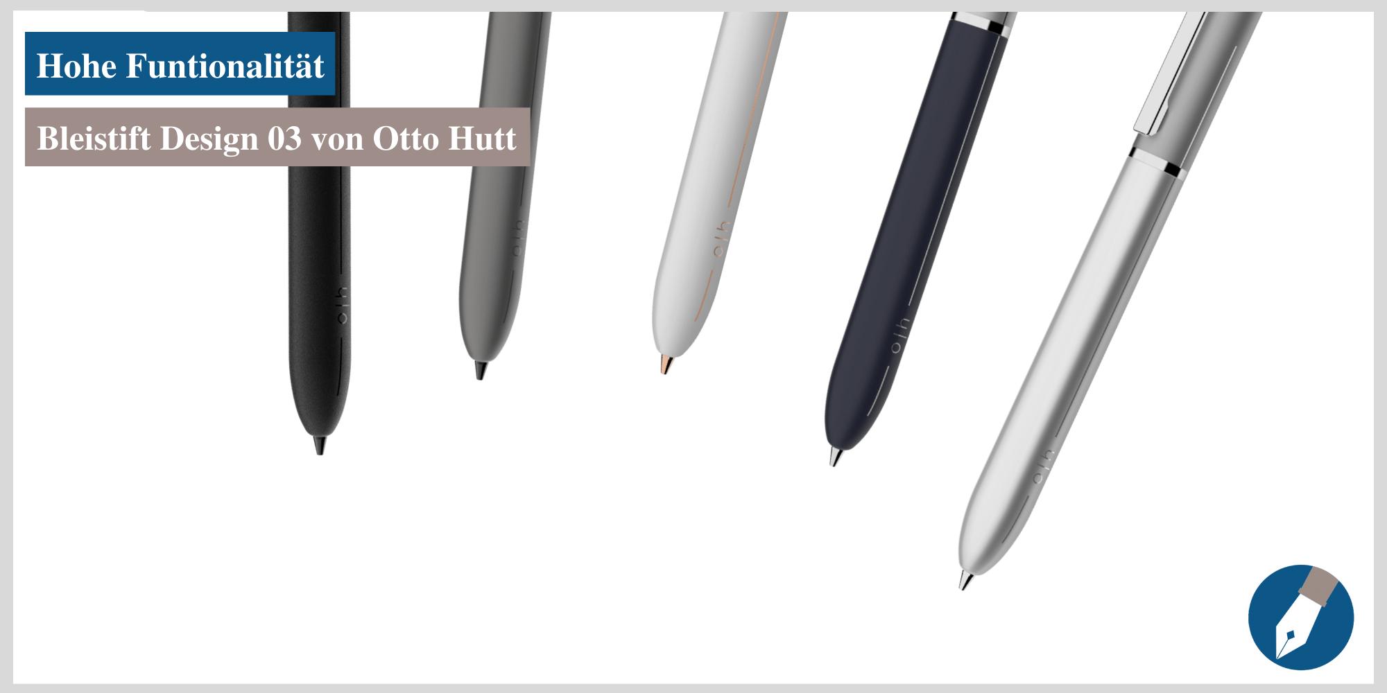 In Köln erhältlich: der Design 03 Bleistift von Otto Hutt.