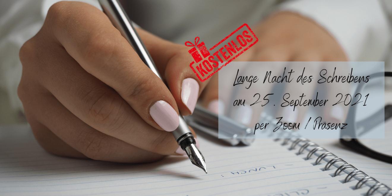 Der Ablauf der Langen Nacht des Schreibens am 25. September 2021 steht fest.
