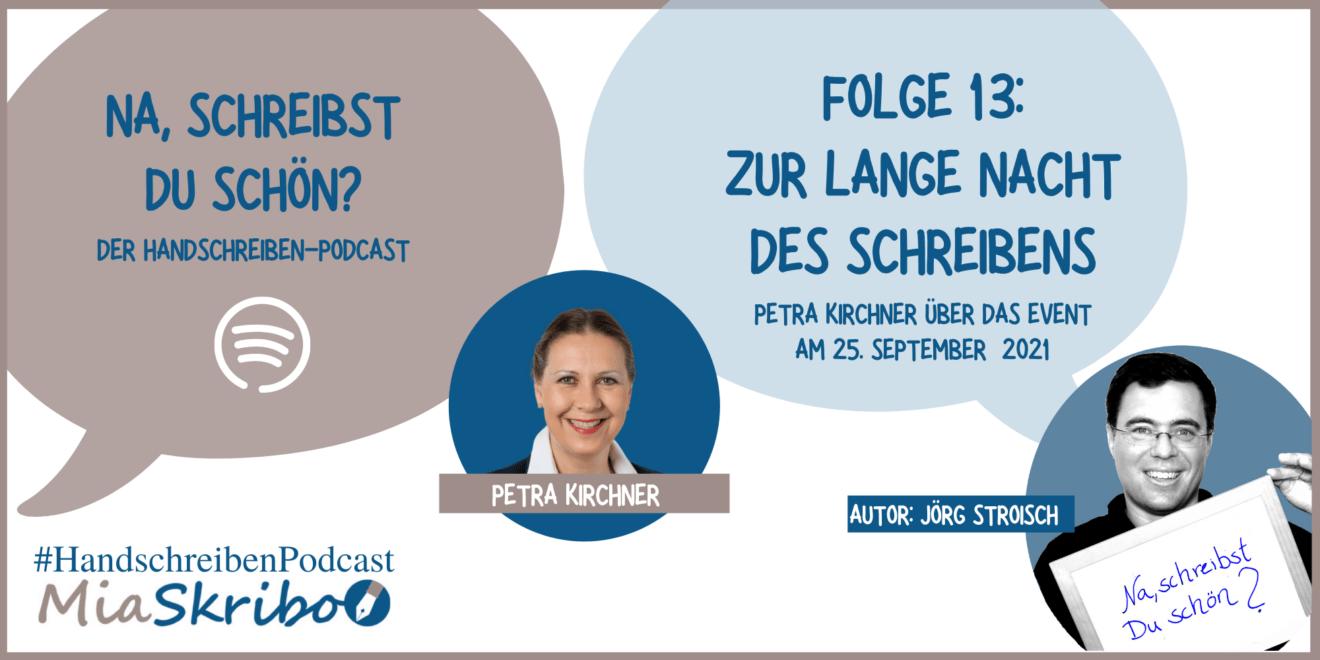 """Petra Kirchner erzählt in """"Na, schreibst Du schön?"""", was ihr an der Langen Nacht des Schreibens gefällt."""